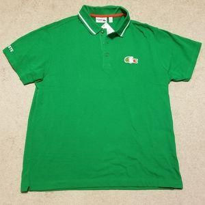 NEW Lacoste Italian Polo Shirt sz 7 XXL NWT Green